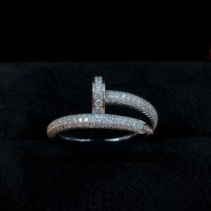 ジュストアンクル フルパヴェダイヤモンド リング(中古品)