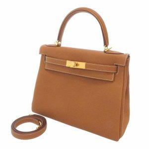 エルメス ハンドバッグ ケリー28 内縫い ゴールド/ゴールド金具 トゴ