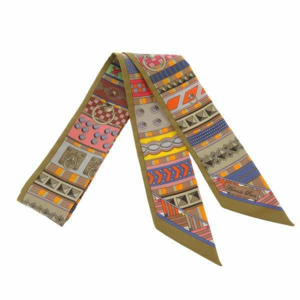 エルメス スカーフ ツイリー シルクツイル Colliers de Chiens